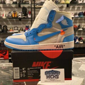 Preowned OFF-WHITE Jordan 1 UNC Size 8.5
