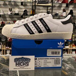 Adidas Superstar Human Made White Black Size 6.5Y