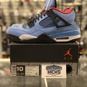 Preowned Jordan 4 Travis Scott Cactus Jack Size 10