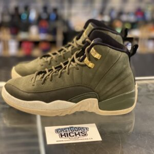 Preowned Jordan 12 Olive Size 5.5Y