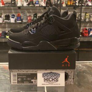 Preowned Jordan 4 Black Cat Size 4.5Y