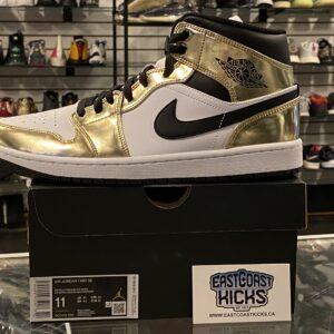 Jordan 1 Mid Metallic Gold Size 11