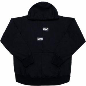 Supreme Comme Des Garçons Split Box Logo Hoodie Black Size M