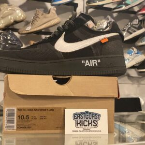 Preowned Off-White Nike Air Force 1 Black Size 10.5