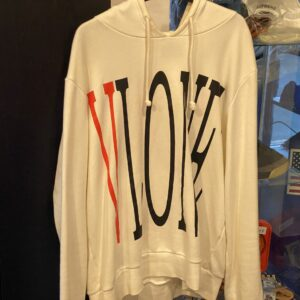 Preowned Vlone Hoodie White Size L
