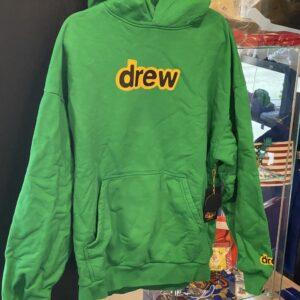 Drew Logo Hoodie Green Size M