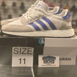 Preowned Adidas I-5923 White Blue Size 11