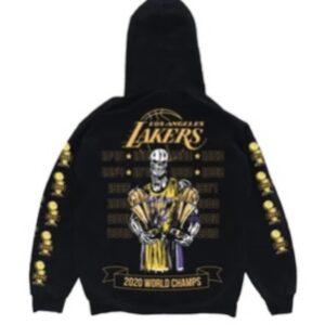 Warren Lotas Lakers Hoodie Size L
