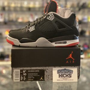 Preowned Jordan 4 Playoff Bred Size 8.5