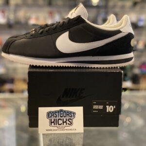 Preowned Nike Cortez Black White Size 10.5