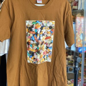 Preowned Supreme Pills Tee Brown Size M