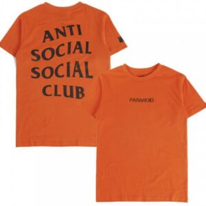 ASSC Anti Social Social Club Paranoid Tee Orange Size M