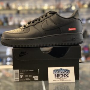 Supreme Nike Air Force 1 Low Black Size 9.5