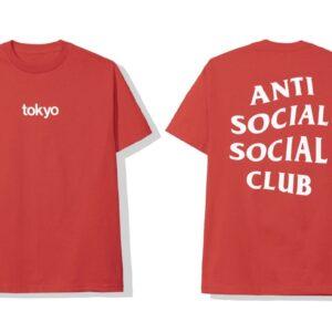 ASSC Anti Social Social Club Tokyo Tee Red Size M