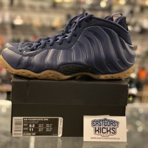 Preowned Nike Foamposite Midnight Navy Size 9.5