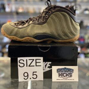 Preowned Nike Foamposite Olive Green Size 9.5