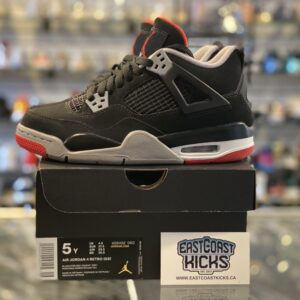 Preowned Jordan 4 Playoff Bred Size 5Y
