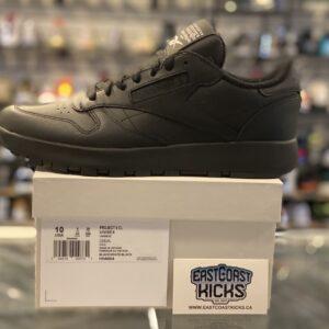 Reebok Classic Leather Project 0 Mason Margiela Black Size 10
