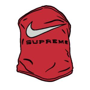 Supreme x Nike Neck Warmer Red