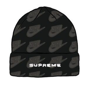 Supreme x Nike All Over Beanie Black