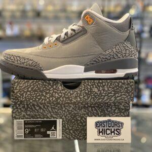 Jordan 3 Cool Grey Size 9.5