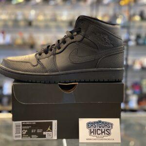 Jordan 1 Mid Triple Black Size 9.5