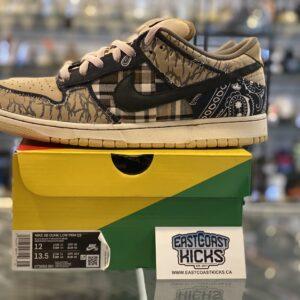 Preowned Nike SB Dunk Travis Scott Size 12