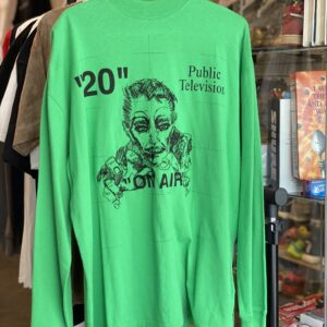 Preowned Off White Public Television Long-sleeve Green Size S