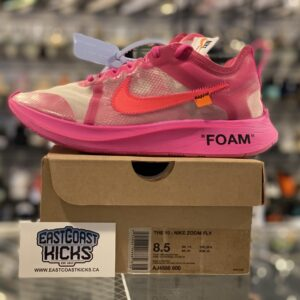 Preowned Off White Nike Zoom Fly Pink Size 8.5