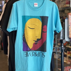 Preowned Supreme Abstract Tee Teal Size M