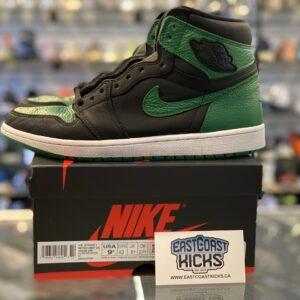 Preowned Jordan 1 High Pine Green Size 9.5