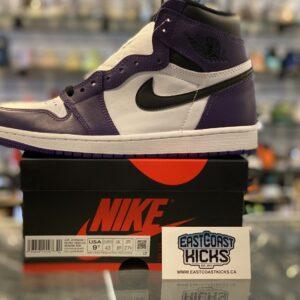 Jordan 1 High Court Purple White Size 9.5