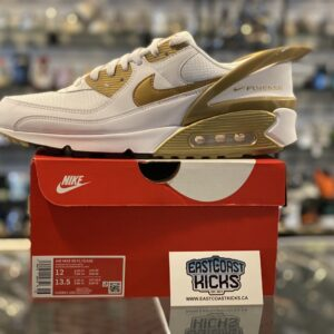 Nike Air Max 90 Flyease White Gold Size 12