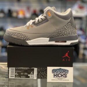 Jordan 3 Cool Grey Size 6Y