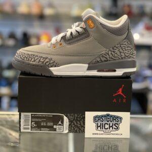 Jordan 3 Cool Grey Size 5Y