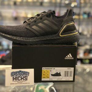 Adidas Ultraboost 20 Black / Gold Size 8