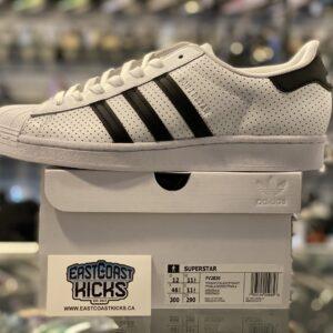 Adidas Superstar White / Black Size 12