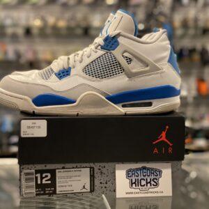 Preowned Jordan 4 Military Blue Size 12