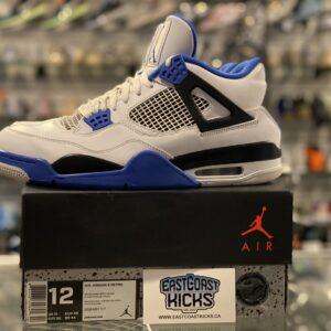 Preowned Jordan 4 Motorsport Blue Size 12