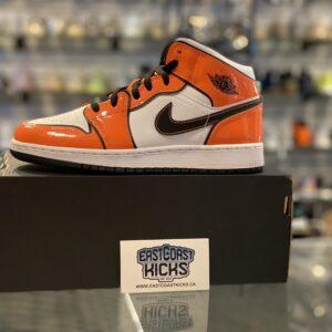 Jordan 1 Mid Orange Turf Size 7Y