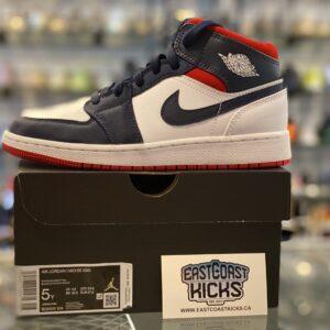 Jordan 1 Mid USA Size 5Y