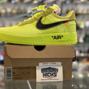 Off White Nike Air Force 1 Volt Size 9