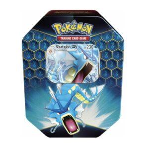 """Pokemon Hidden Fates Tin """"Gyrados"""" (4 Booster Packs + Promo Card)"""