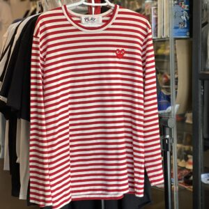 Preowned CDG Comme des Garçons Long Sleeve Red Size L