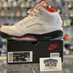 Preowned Jordan 5 Fire Red Size 6.5Y